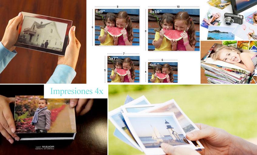 Tipo de impresos en los paquetes de fotografia profesional