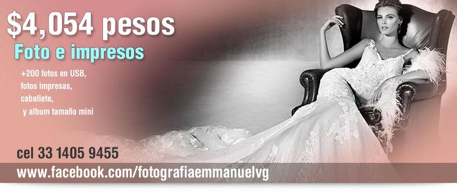 paquetes de fotografia de boda Emmanuel Vargas