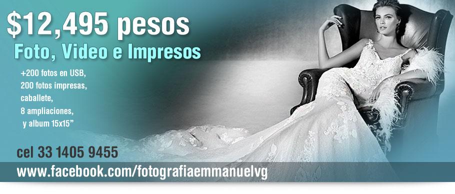 paquetes de fotografia de boda Emmanuel Vargas Guajardo